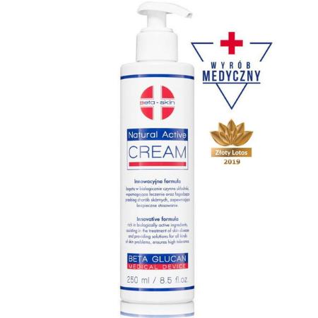 Natural Activ Cream - Regenerujący krem nawilżający o właściwościach łagodzących objawy dermatoz skóry [250ml] BETA SKIN