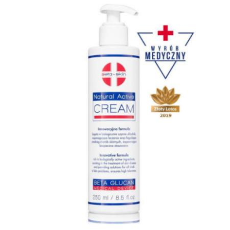 Natural Activ Cream - Regenerujący krem nawilżający o właściwościach łagodzących objawy dermatoz skóry [50ml] BETA SKIN