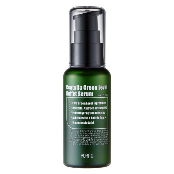 Centella Green Level Serum Buffet - Odżywcze serum do twarzy z 49% ekstraktem z wąkroty azjatyckiej [60ml] PURITO