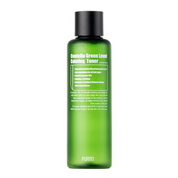Centella Green Level Calming Toner - Łagodzący toner z ekstraktem z wąkroty azjatyckiej [200ml] PURITO