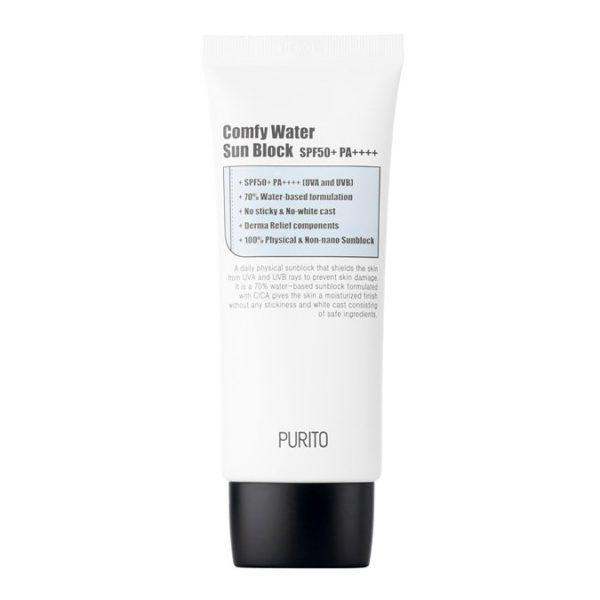 Comfy Water Sun Block SPF 50 - Nawilżający krem z filtrem przeciwsłonecznych [60ml] PURITO