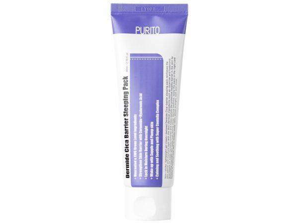 Dermide Cica Barrier Sleeping Pack - Regenerujący krem - maska na noc [80ml] PURITO