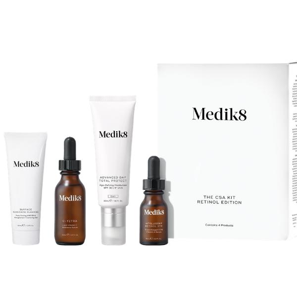 The CSA Kit Retinol Edition - przeciwstarzeniowy zestaw dla kobiet z retinolem [40ml+30m+50ml+15ml] MEDIK8