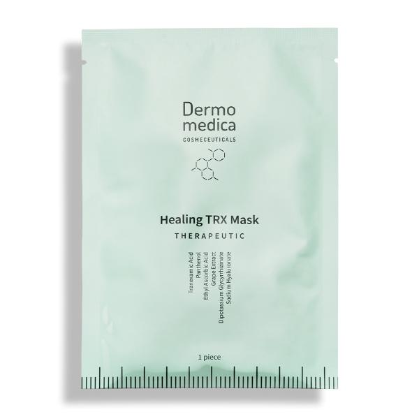Healing TRX Mask - Maska nanocelulozowa w płacie z kwasem traneksamowym DERMOMEDICA